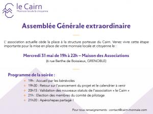 Invitation à l'Assemblée Générale du 31 mai